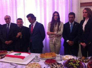 g n 108 5t2w - Dep. Ricardo Izar participa das comemorações pela independência no Líbano