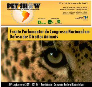 g n 121 7o5s - Frente Parlamentar em Defesa dos Direitos Animais na PET SHOW 2013