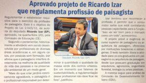 g n 151 5a2e - Aprovado PL de Izar que regulamenta profissão de paisagista